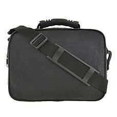 Мужская сумка горизонтальная Wallaby 30х23х17  цвет чёрный, ткань «Кордура»  в2425ч, фото 2