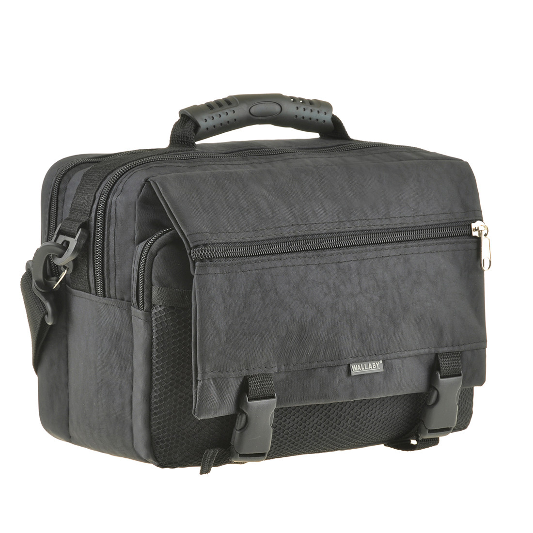 Мужская сумка горизонтальная Wallaby 30х23х17  цвет чёрный, ткань «Кордура»  в2425ч