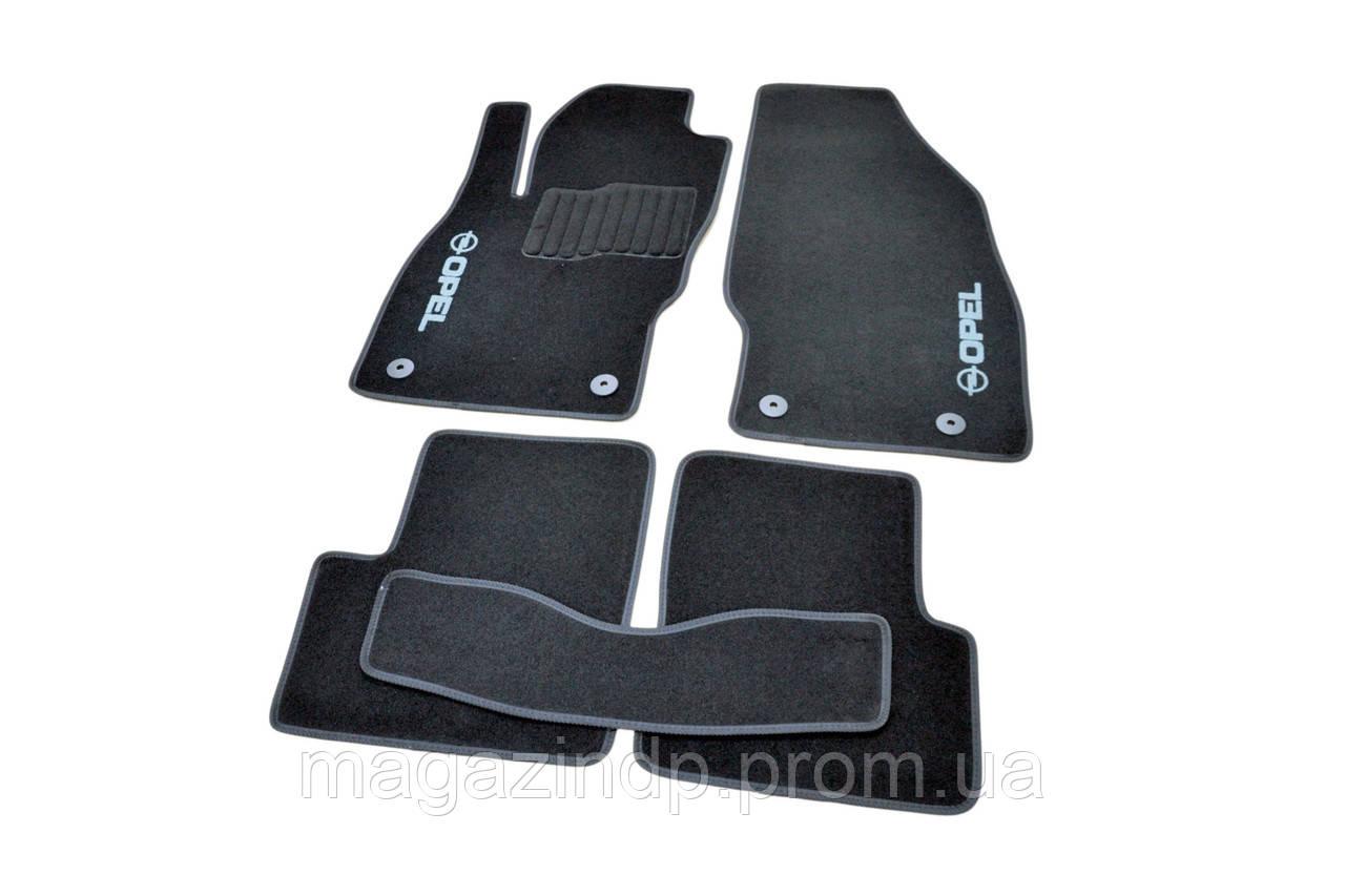 Ворсовые коврики в салон для Opel Corsa D (2006-2014) /Чёрные 5шт BLCCR1445 Код товара: 3816366