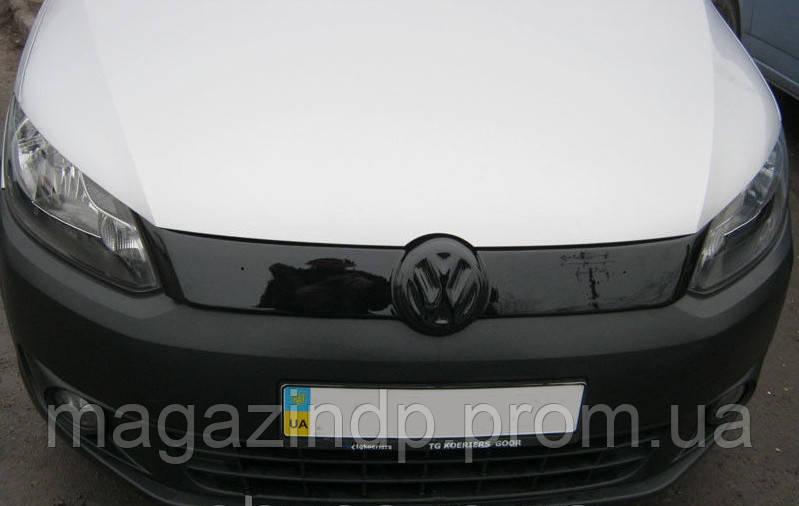 Зимняя накладка (глянцевая) Volkswagen Caddy 2010- (верх решетка) Код товара: 3816373