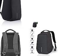 Рюкзак Антивор Bobby черный c защитой от карманников и с USB зарядным устройством