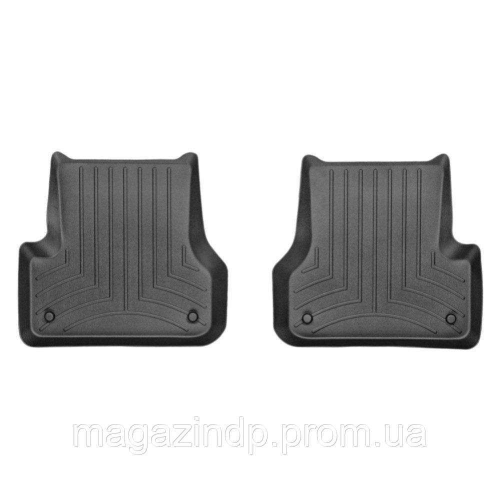 Коврики в салон для  A6 2012- с бортиком задние черные 443742 Код товара: 3818618