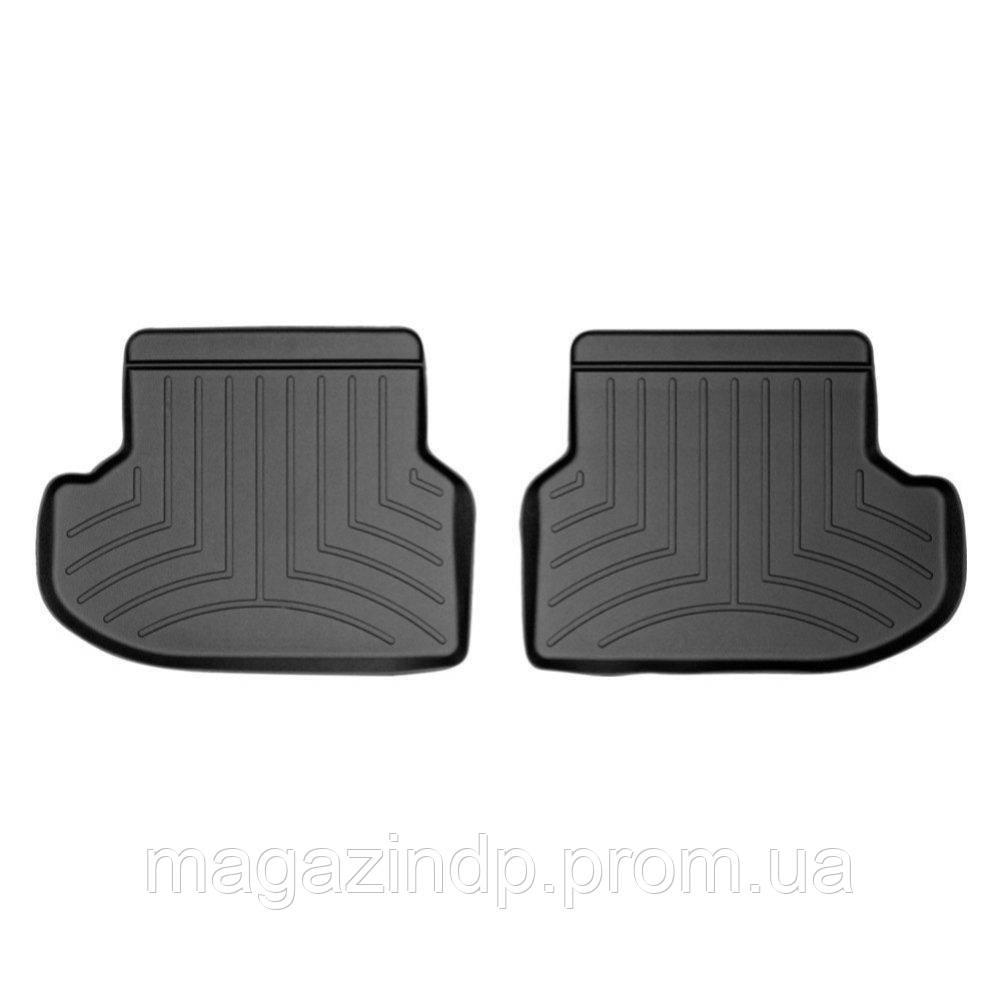 Коврики в салон для BMW 5 2014- F10 с бортиком задние черные 443133 Код товара: 3818622
