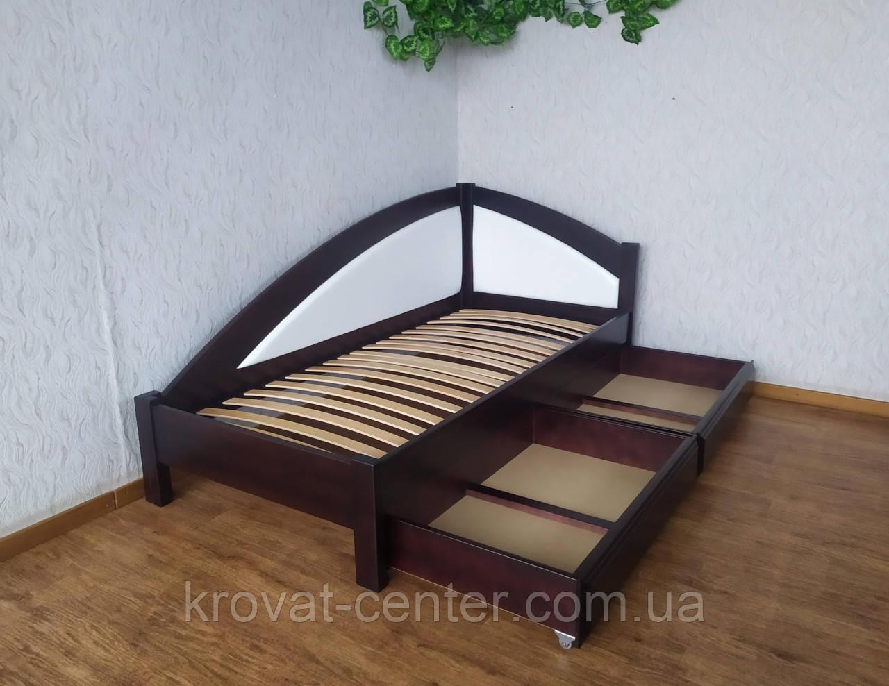 """Кровать односпальная с мягкой спинкой и выдвижными ящиками """"Радуга Премиум"""""""