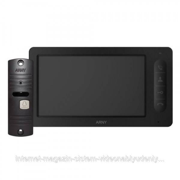 Комплект видеодомофона ARNY AVD-7006 Черный / Коричневый (arny-000133)