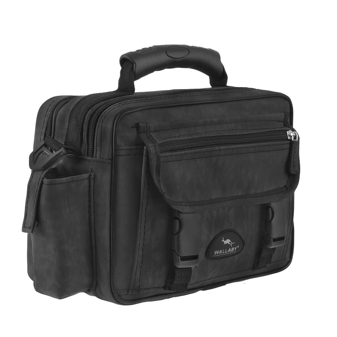 Мужская сумка Wallaby горизонтальная ткань «Кордура» 25х18х13 цвет чёрный,  в2427ч