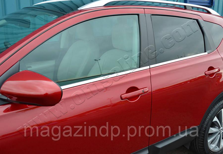 Nissan Qashqai+2 (2010-2014) Молдинги стекол нижние 4шт Код товара: 3818953
