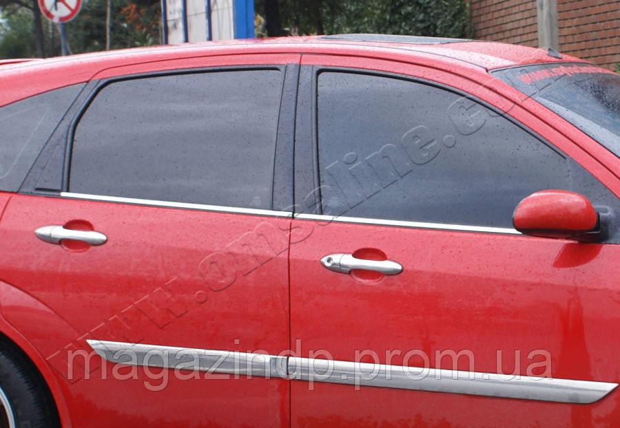 Ford Focus 5D/Sedan (1998-2005) Молдинги стекол нижние 4шт Код товара: 3818957