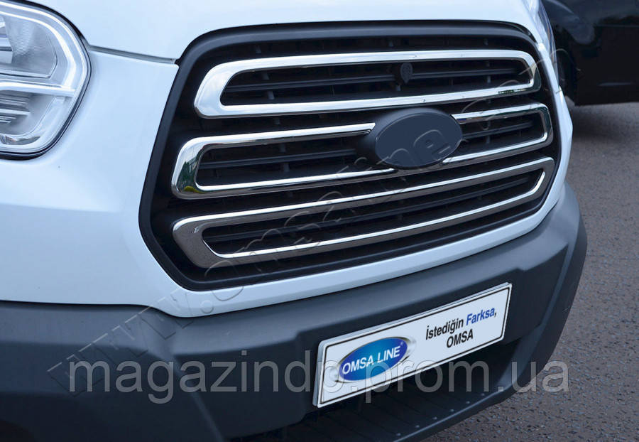 Ford Transit (2014-) Накладки на решетку радиатора 3шт Код товара: 3818968