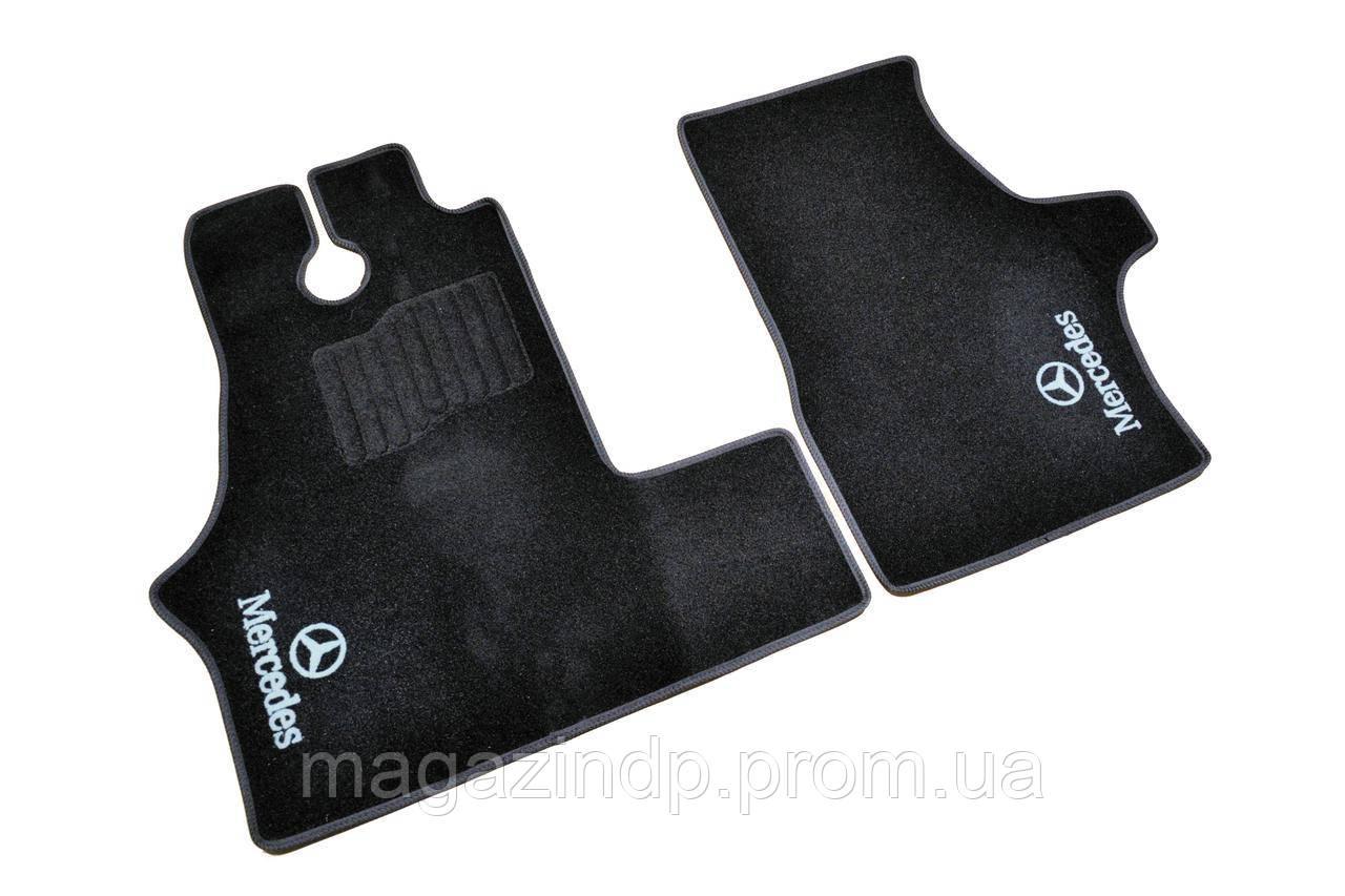 Коврики в салон ворсовые для Mercedes Vito W638 (1996-2003) /Чёрный BLCCR1376 Код товара: 3822715