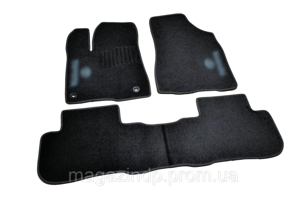 Коврики в салон ворсовые для Toyota Highlander (2013-) /Чёрные кт 3шт Код товара: 3822718