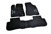 Коврики в салон ворсовые для Toyota Highlander (2013-) /Чёрные кт 3шт Код товара: 3822718, фото 1