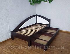 """Кровать детская угловая с мягкой спинкой и выдвижными ящиками """"Радуга Премиум"""", фото 2"""