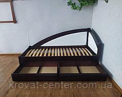 """Кровать детская угловая с мягкой спинкой и выдвижными ящиками """"Радуга Премиум"""", фото 3"""