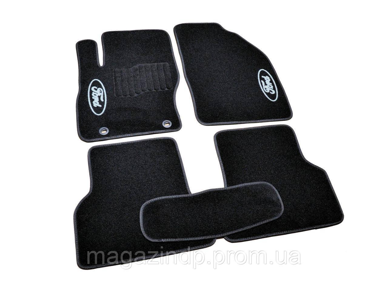Коврики в салон ворсовые для Ford Focus II (2004-2011) /Чёрные, кт. 5шт BLCCR1150 Код товара: 3822725
