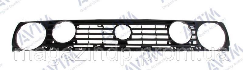 Решетка радиатора Volkswagen Golf II 1987-1991 4 отв.черн. (I,D) Код товара: 3824076