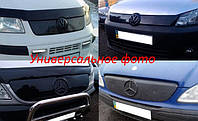Зимняя накладка (матовая) Volkswagen T5 2003-2009 (бампер длинная на 3 решетки) Код товара: 3824687