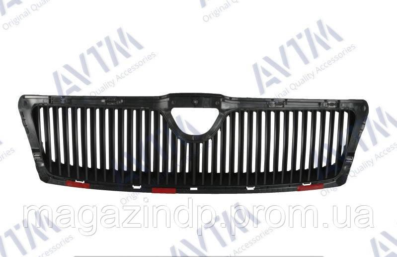 Решетка радиатора  Octavia (A5) 2004-2008 черн. без рамки Код товара: 3825286