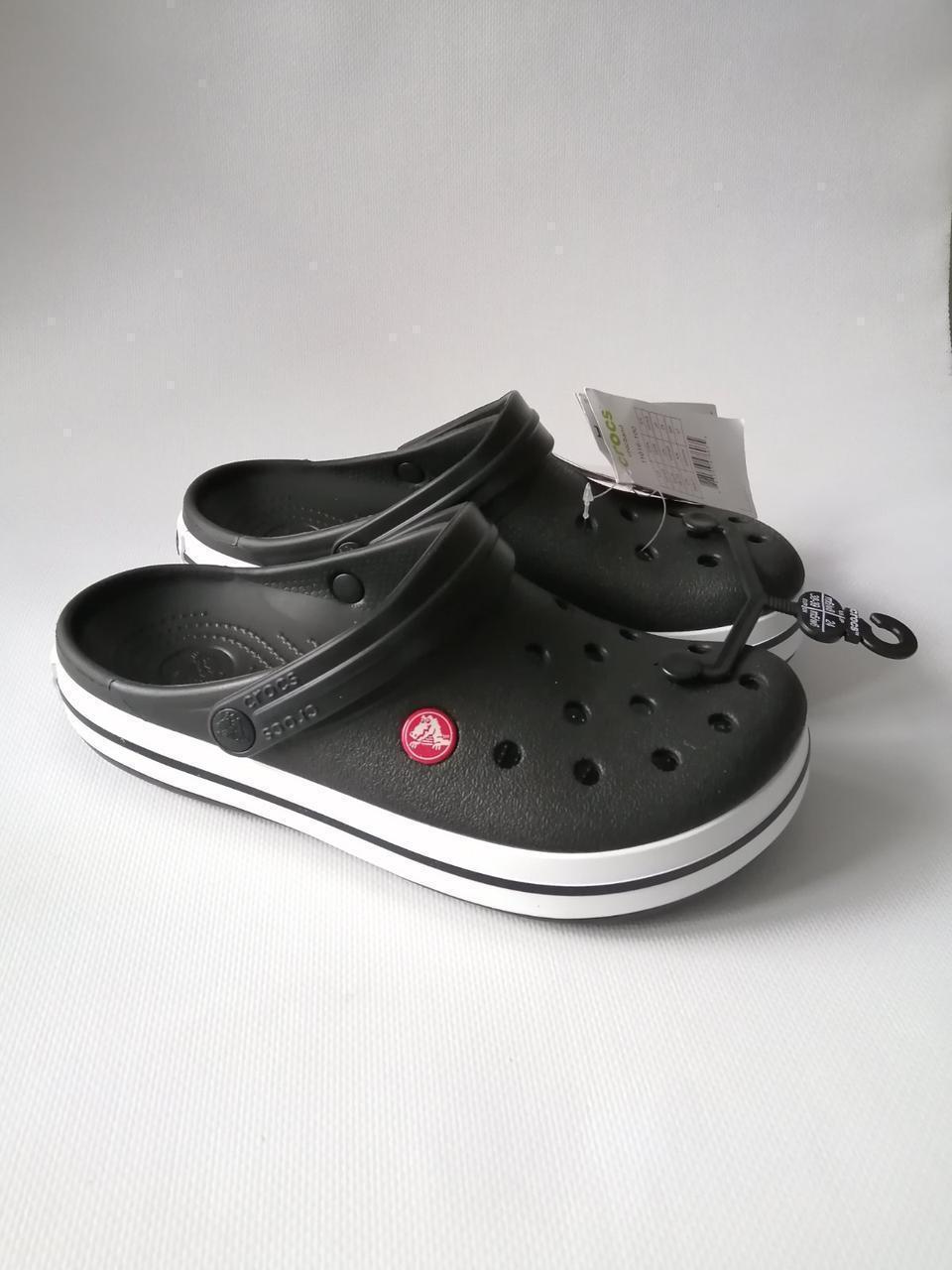 Кроксы летние Crocs Crocband черные 43 разм.