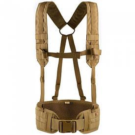 M-Tac пояс тактический с плечевыми ремнями Scout койот