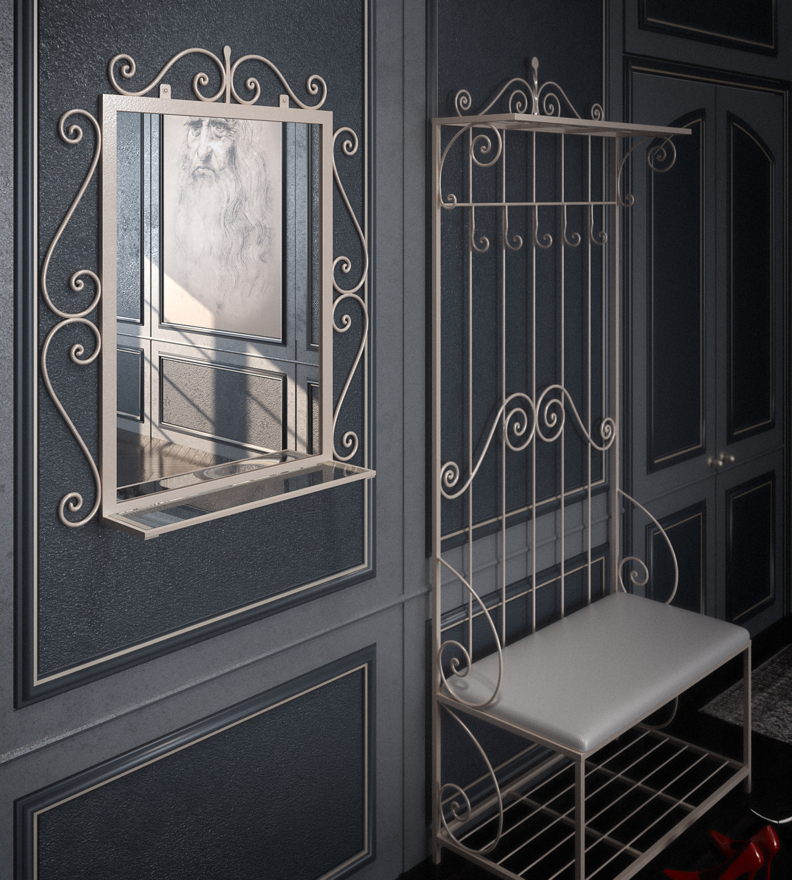 Комплект Амбер (Прихожая + зеркало). ТМ Тенеро