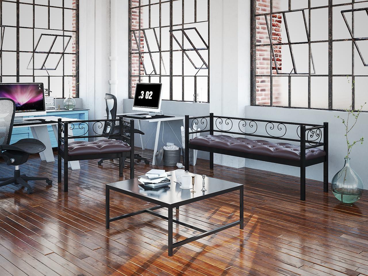 Кресло и Диван 3-х местный Грин Трик. ТМ Тенеро
