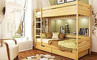 Двухъярусная кровать Дуэт Массив 80х190 см. Эстелла 90х190