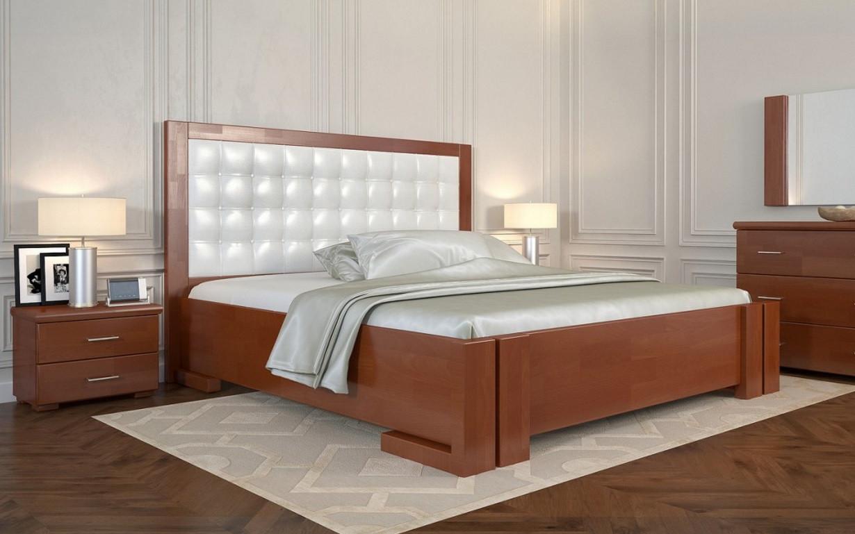 Деревянная кровать Амбер с механизмом Сосна 160х190 см. Arbor Drev