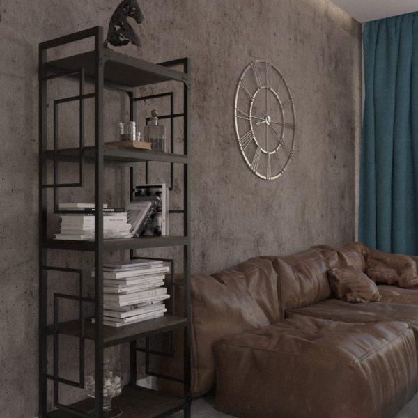 Стеллаж 5 полок Квадро Металл-Дизайн Лофт