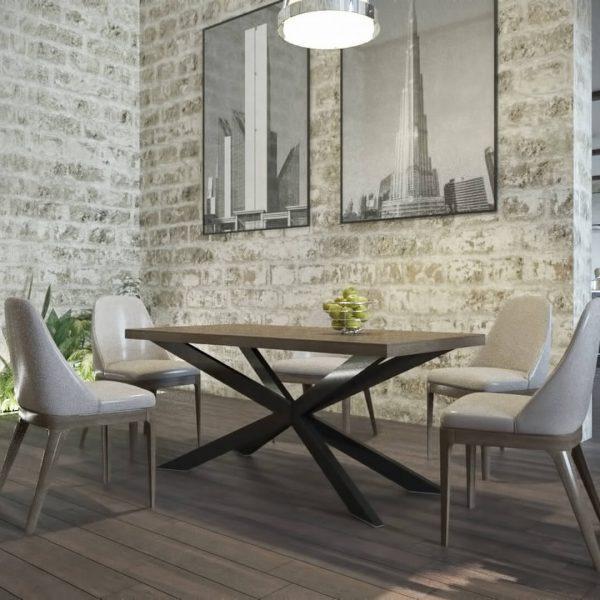 Стол Икс 160 Металл-Дизайн Лофт
