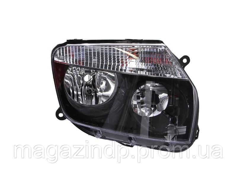 Фара передняя Dacia/ Duster 2010- правая H7/H1, авт./мех.рег., черная рамка 551-1186R-LDEM2 Код товара: 4646129