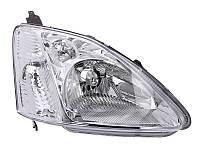 Фара передняя nda Civic VII 2001-2003 правая H4, серая рамка, эл. рег., с моторч., 3/5-дв. 217-1137R-LDEM1 Код товара: 4817592
