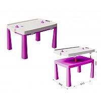 Детский пластиковый стол с насадкой для аэрохоккея (розовый) Doloni (04580/3)