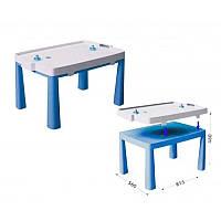Пластиковый стол с насадкой для аэрохоккея (синий) Doloni (04580/1)