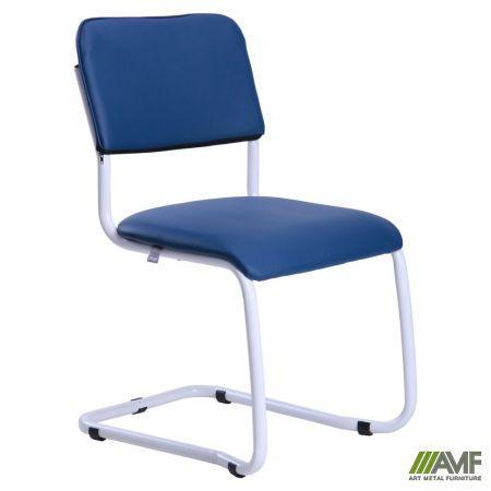 Офисный стул Квест белый лак/кожзам