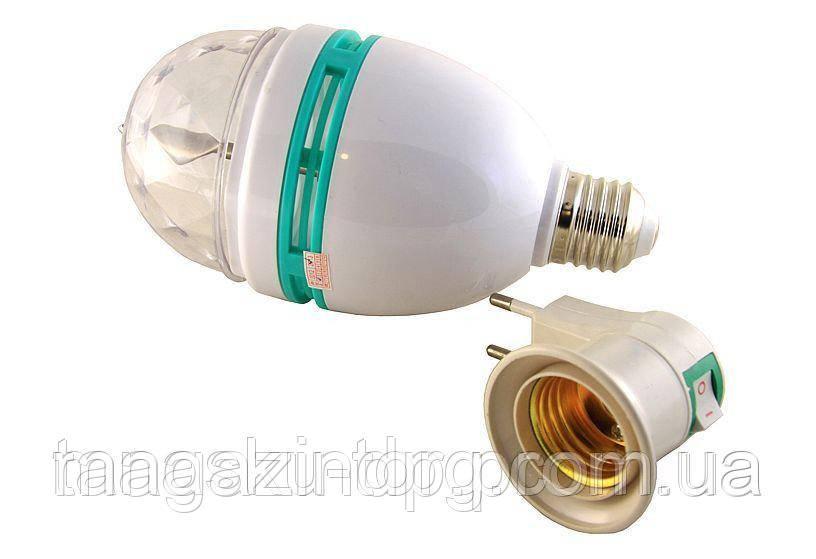 Большая вращающаяся диско лампа 3W; Е27; 15*8см Код товара: 1255428