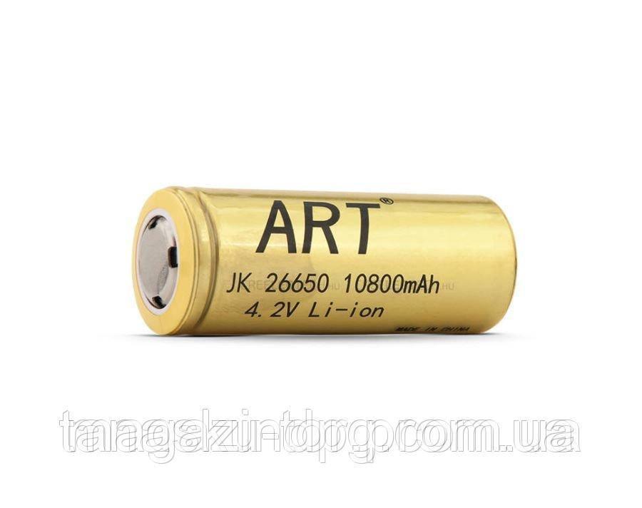 Мощный аккумулятор Art 26650 Li-ion 10800 mAh Код товара: 1255485