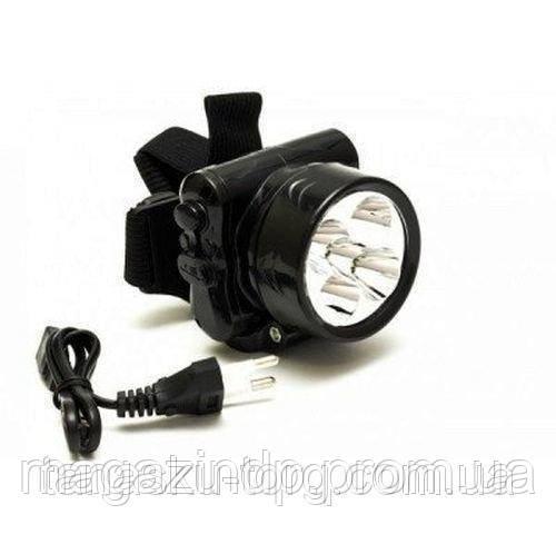 Налобный аккумуляторный фонарь Yj-1829-5 на 5 светодиодов Код товара: 1255518