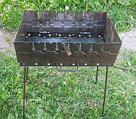 Раскладной мангал чемодан на 8 шампуров 2мм Код товара: 1255562