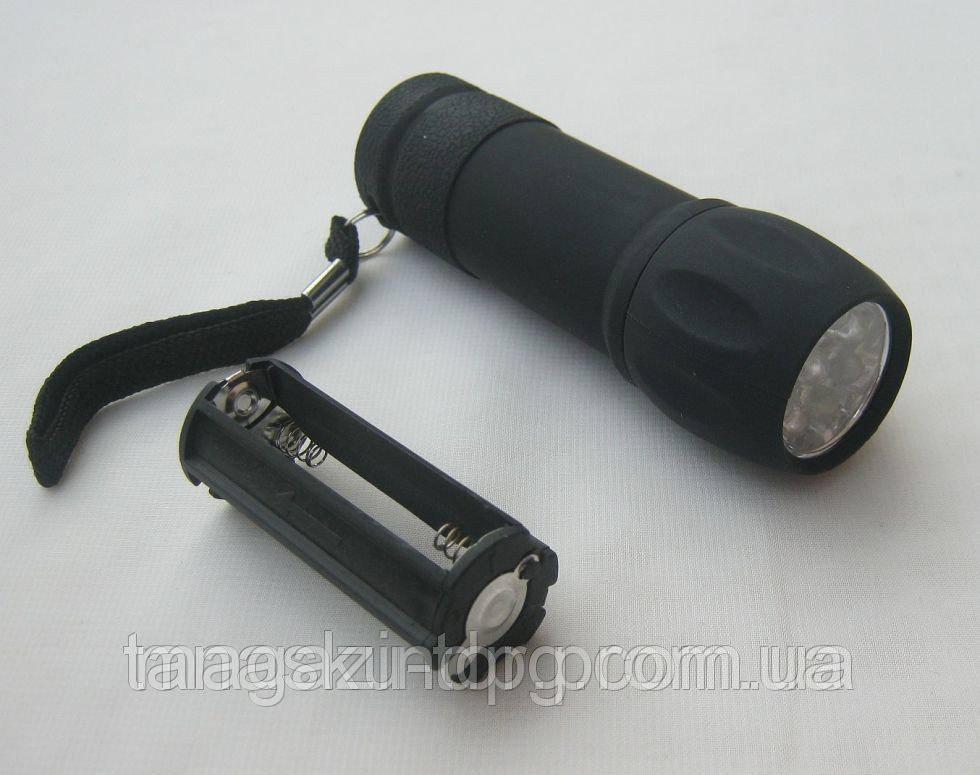Фонарик на девять светодиодов (512В) Код товара: 1255609