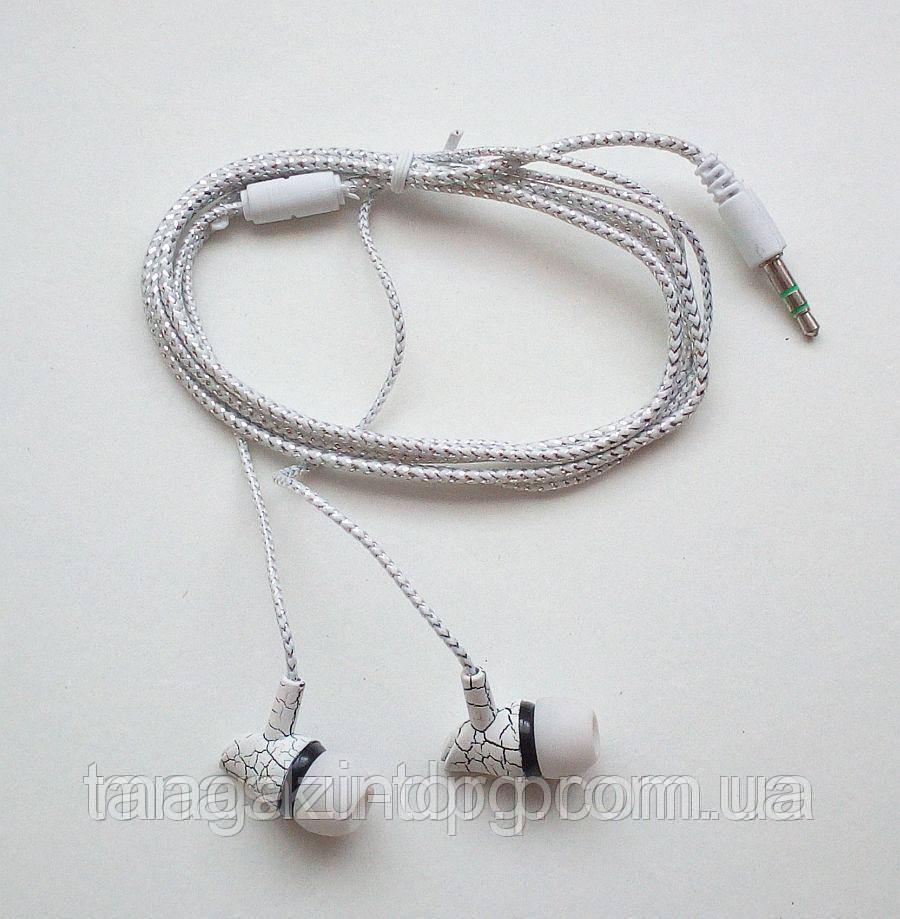 Вакуумные наушники (кабель на тканевой основе) Код товара: 1255655