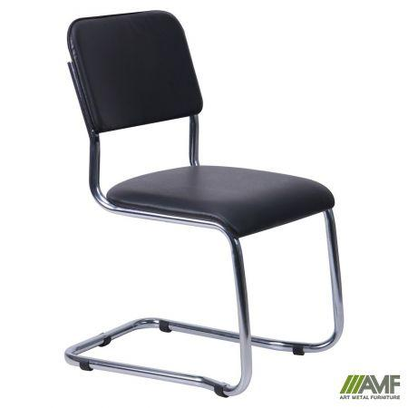 Офісний стілець Квест хром/кожзам AMF