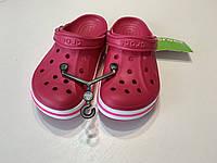 Кроксы летние Crocs Bayaband Clog Raspberry 39 разм., фото 1
