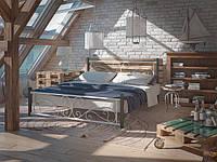 Металлическая кровать Нарцисс на деревянных ногах ТМ Тенеро