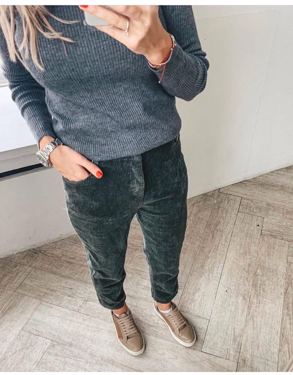 Женские вельветовые брюки влю522