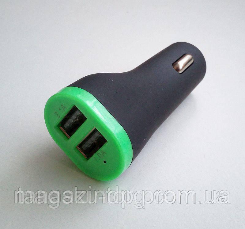 Зарядное устройство на 2 Usb порта от прикуривателя 12 В Код товара: 1256193