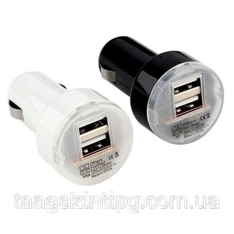 Зарядное устройство на 2 Usb порта от прикуривателя 12 В Код товара: 1256259