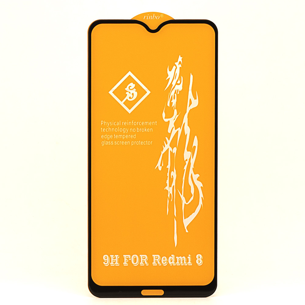 """Защитное стекло AVG 6D Full Glue для Xiaomi Redmi 8 полноэкранное черное - купить по лучшей цене в Украине от компании """"DISTORE"""" - 1104336572"""