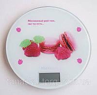 Сенсорные  кухонные электронные круглые весы  до 5 кг, white Код товара: 3707117