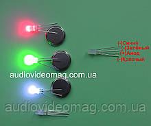 Светодиод 3V 5 мм, RGB, трехцветный,с общим АНОДОМ